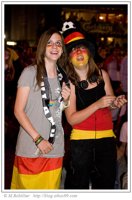 Allemagne-Turquie Supportrice Allemande FanZone EUro 2008 Genève